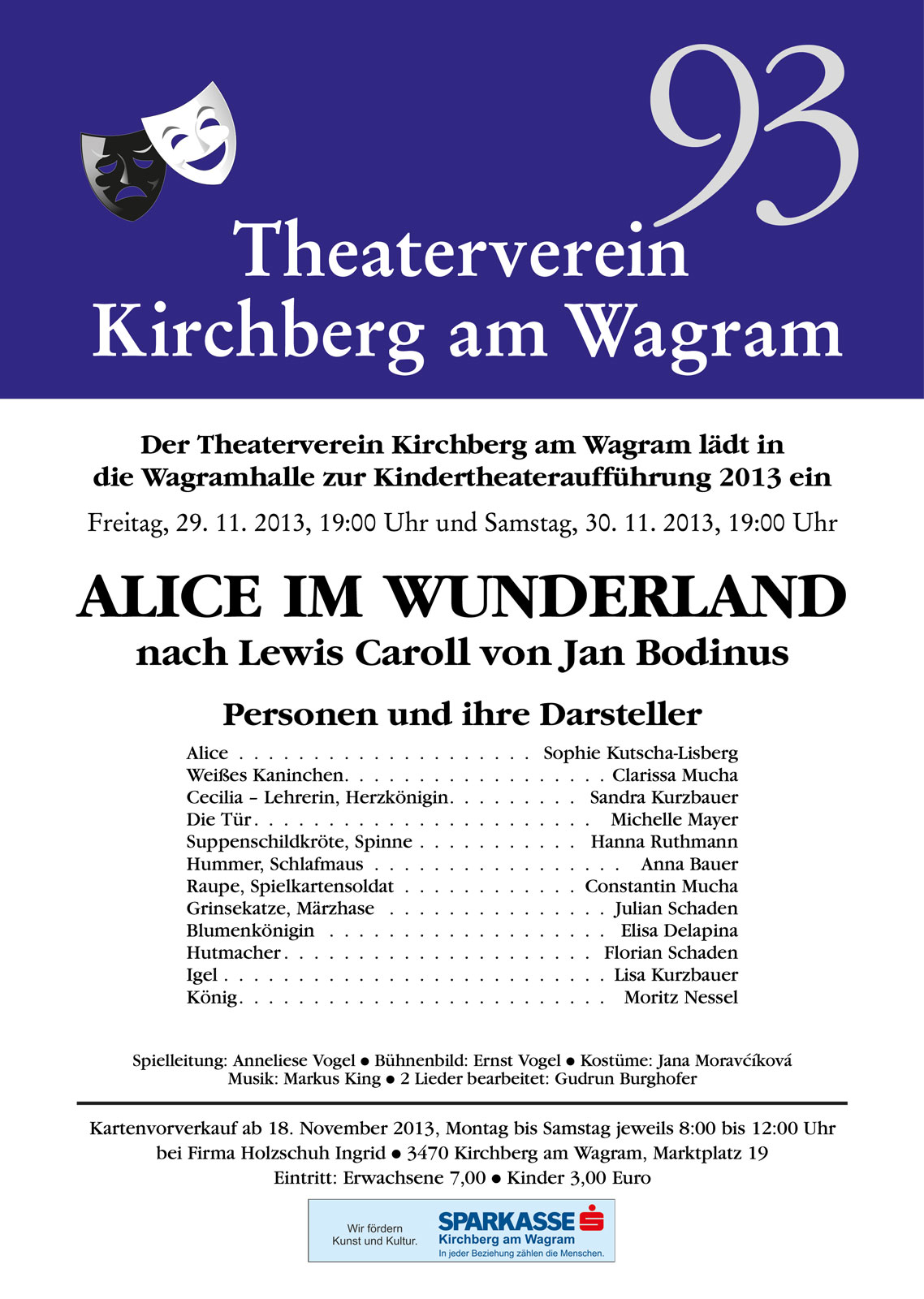 2013 Kindertheater Alice im Wunderland